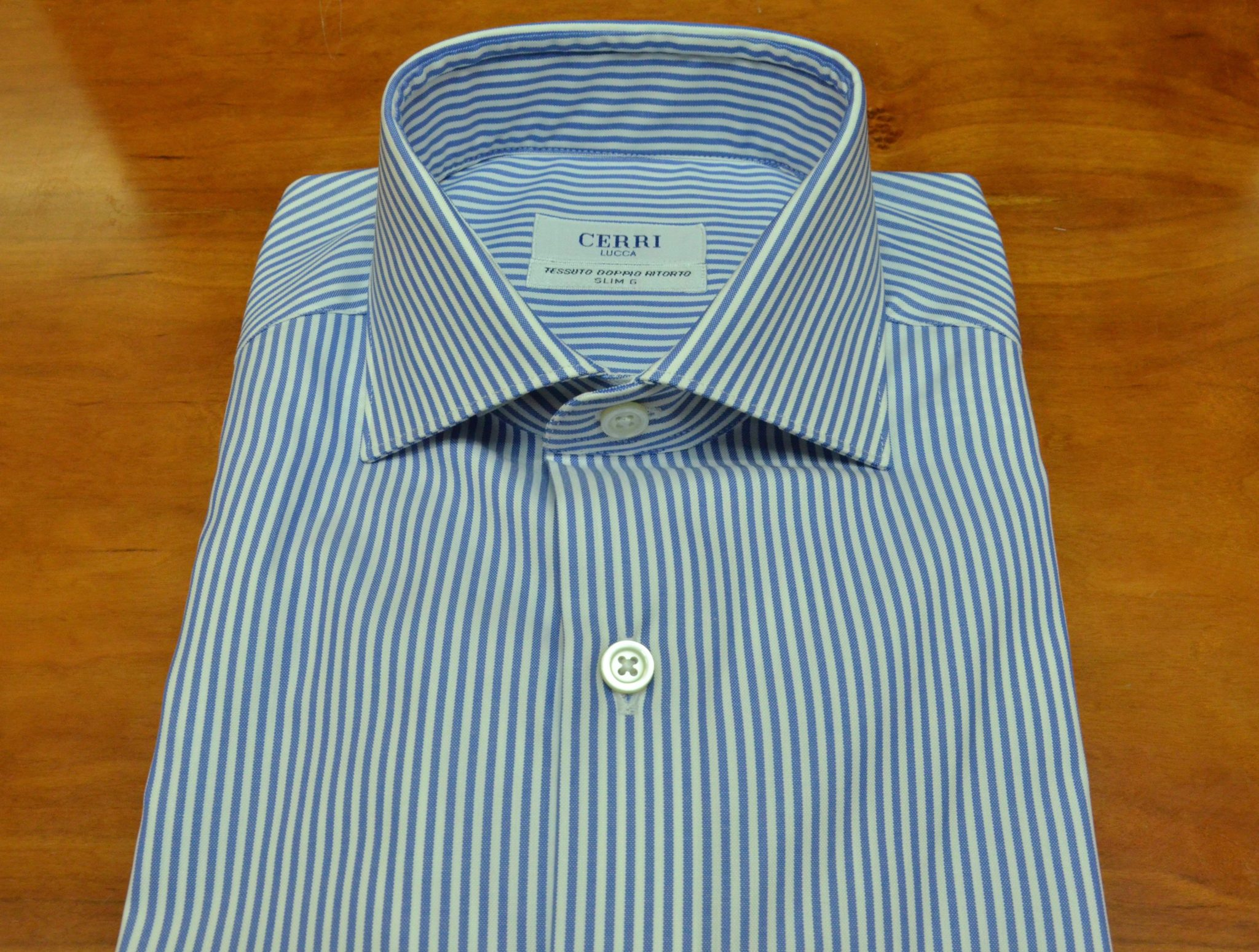 a5ad6ae5 shirt in pure cotton two ply - Cerri Camiceria