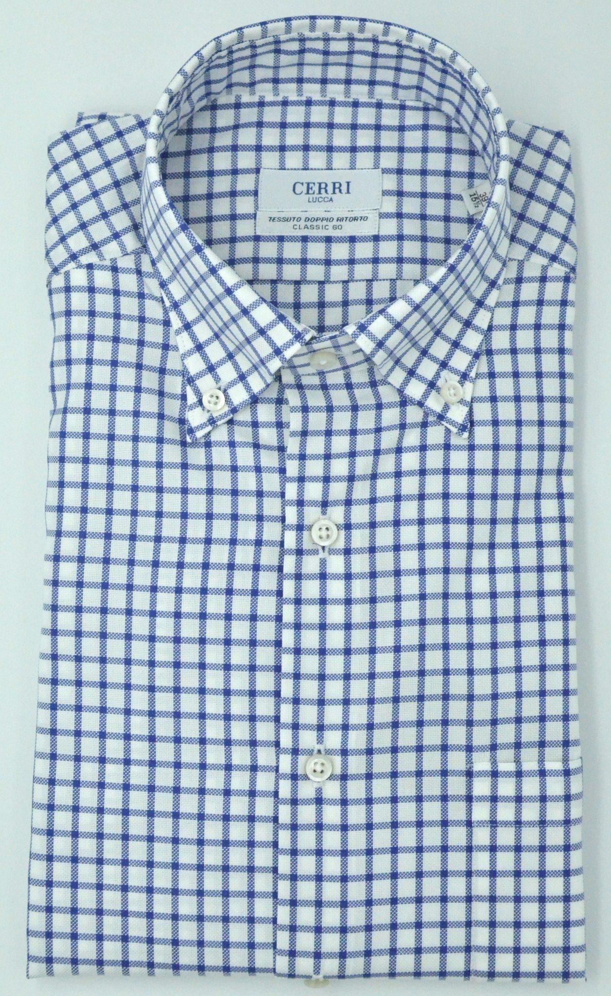 ae9a753c check pure cotton two ply - Cerri Camiceria